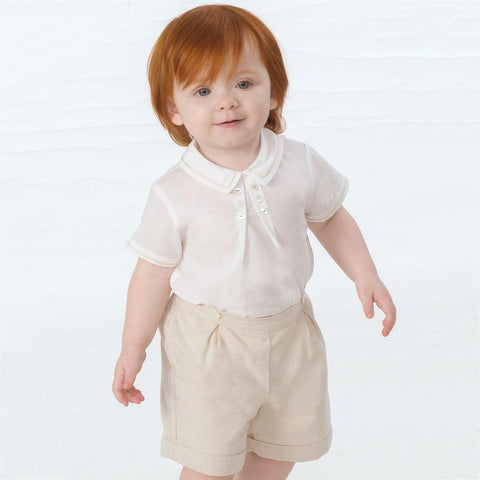 Button On Linen Shorts Set Sarah Louise