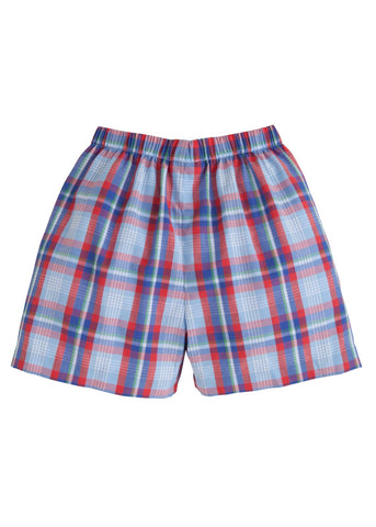 Sea Island Plaid Shorts Little English