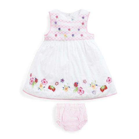 Smocked Baby Dress w/Bloomers Jojo Mama Bebe