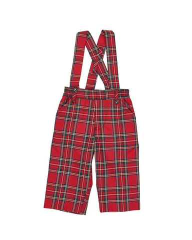 Suspender Plaid Pants Florence Eiseman