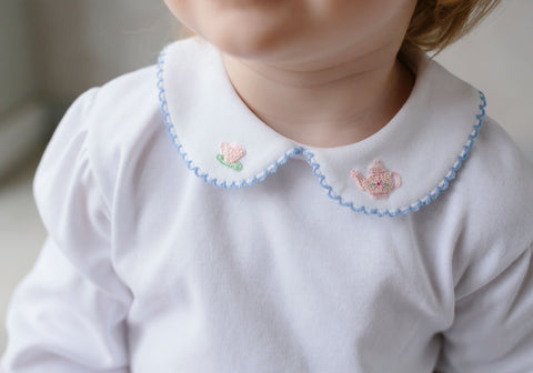 Teacup Pinpoint Blouse Little English