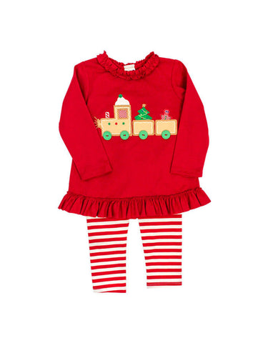 Gingerbread Train Tunic Set The Bailey Boys