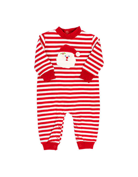 Santa Face Knit Romper Bailey Boys