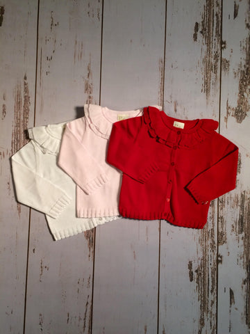 Ruffle Cardigan Infant Petit Ami