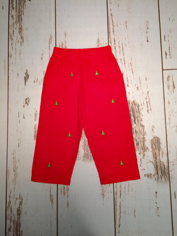 Christmas Tree Emb. Cord Pants Luigi Kids