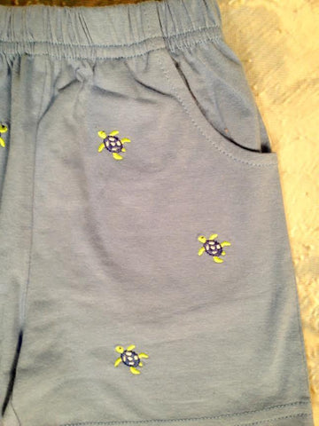 Turtle Emb Knit Shorts Luigi Kids