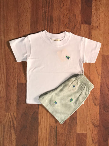 Turtle Emb. Child Shorts Luigi Kids