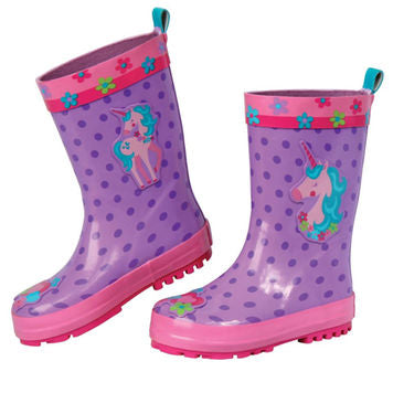 Unicorn Rain Boots By Stephen Joseph