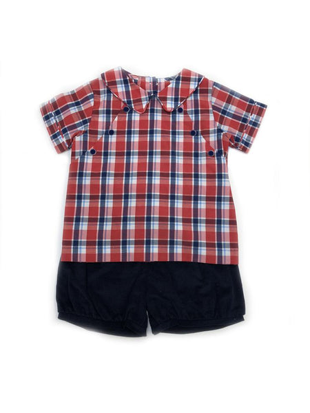 Walker Short Set Frierson Plaid Little English