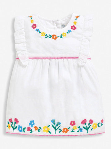 Embroidered Floral Top  Jojo Maman Bebe
