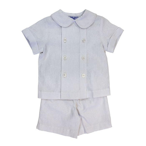 Doeskin Cotton Dressy Short Set Bailey Boys