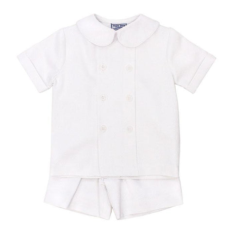White pique Dressy Shorts Set Bailey Boys