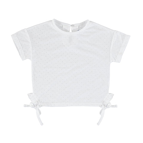 White S/S Tee w/Ties Mayoral