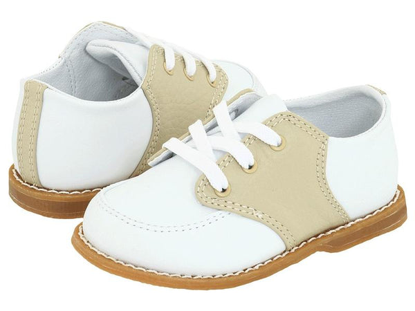 Tan Oxford Saddle Shoe Baby Dear Trim Foot