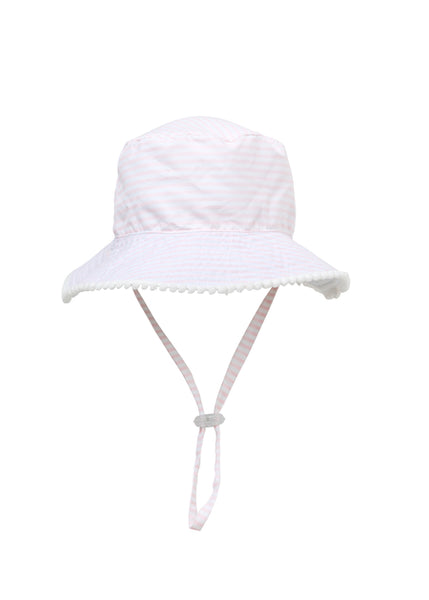 Pink & White Stripe Reversible Hat SnapperRock