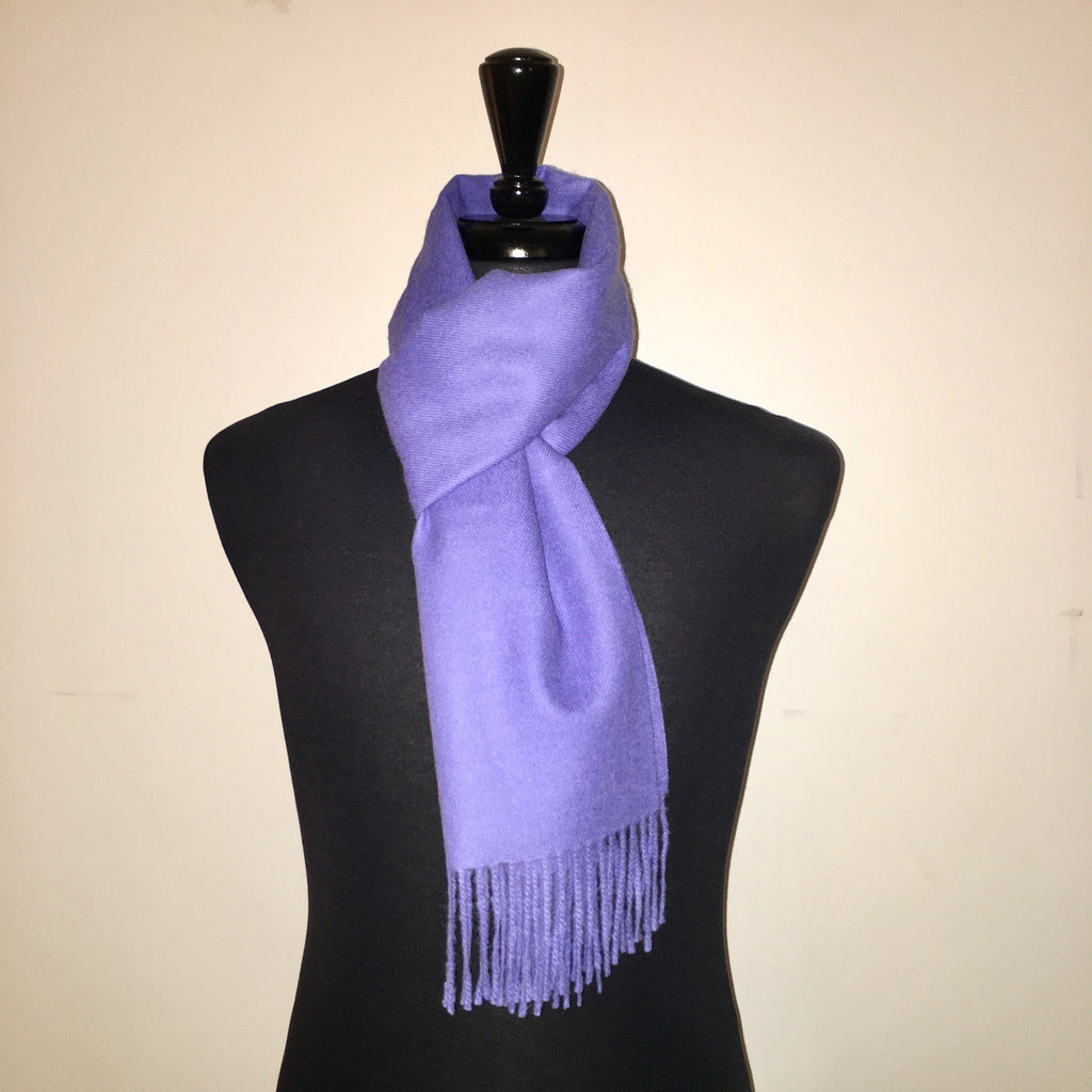 Alpaca scarf light blue /mauve made of 100% Peruvian alpaca wool