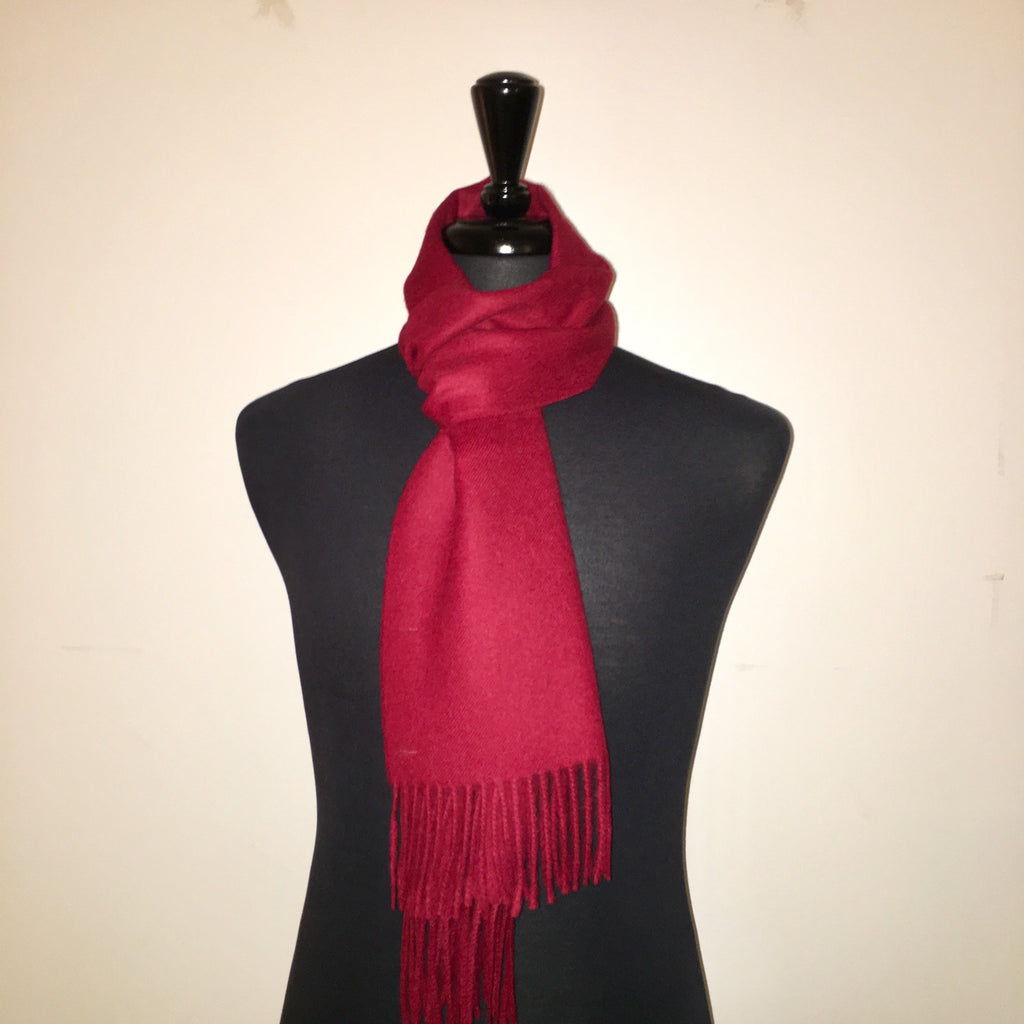 alpaca scarf red wine made of 100% Peruvian baby alpaca