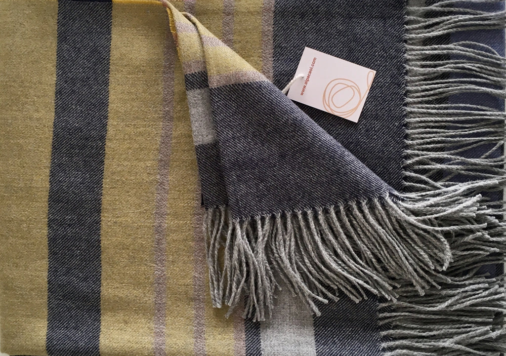 Alpaca throw ALPTHCS - Colourful stripes
