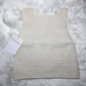 Beige ALPACA BABY DRESS handmade with 100% Peruvian alpaca wool