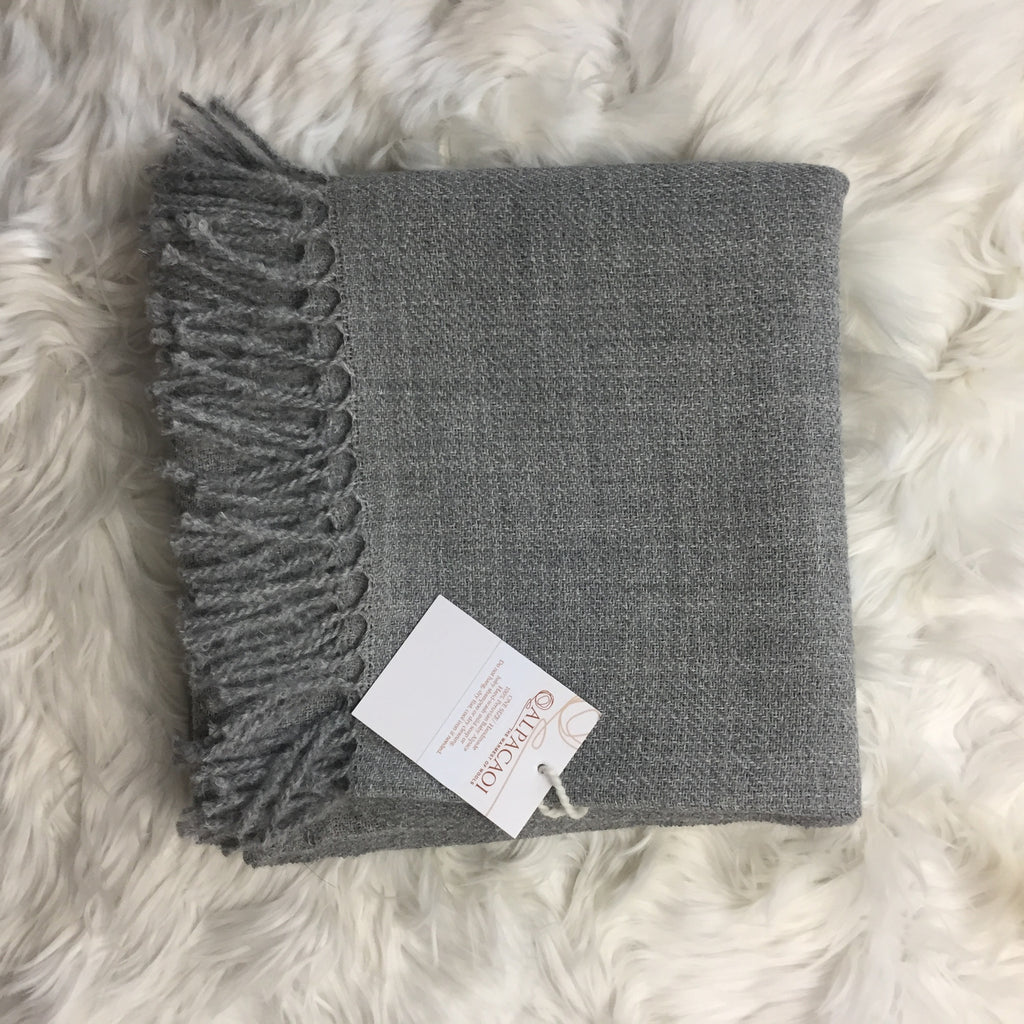 Light Grey ALPACA poncho handmade of 100% Peruvian alpaca wool