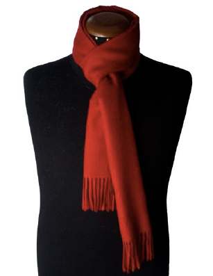 Red scarf made of 100% Peruvian baby alpaca