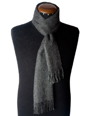 Alpaca grey scarf made of 100% Peruvian baby alpaca wool