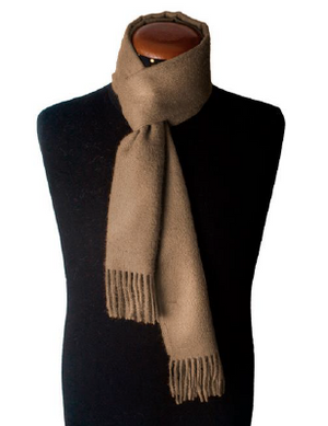 CAMEL ALPACA SCARF made of 100% Peruvian alpaca wool