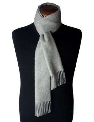 SILVER GREY SCARF made of 100% Peruvian alpaca wool