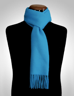 Blue alpaca scarf made of 100% Peruvian alpaca wool