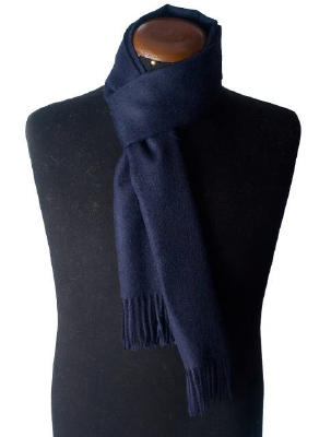 ALPACA SCARF BLUE NAVY made of 100% Peruvian alpaca wool