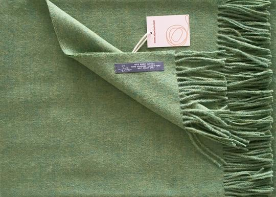 Alpaca throw ALPTHM Mixed Green