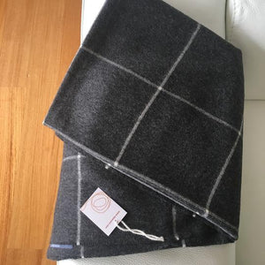Alpaca throw ALPTHSQ Squares Gray