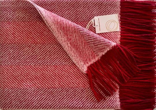 Alpaca throw ALPTHS Stripes RED