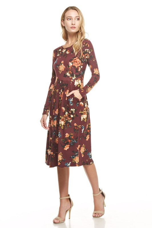 Rebecca Dress - Wine