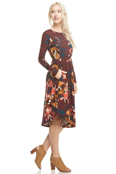 Brenna Dress - Cranberry