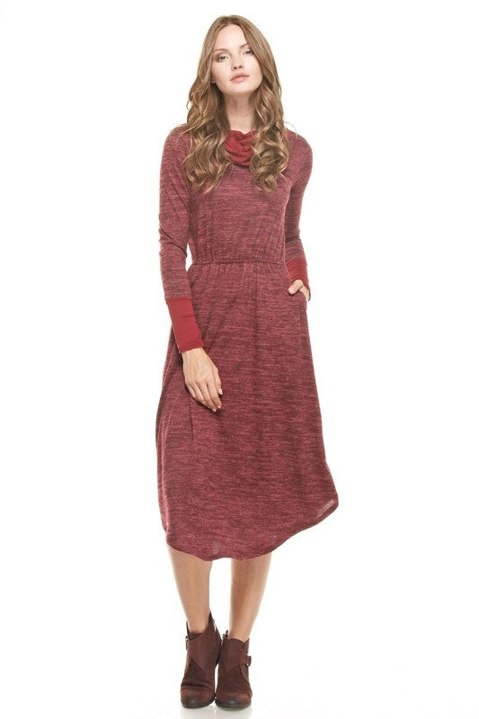 Paige Sweater Dress - Burgundy