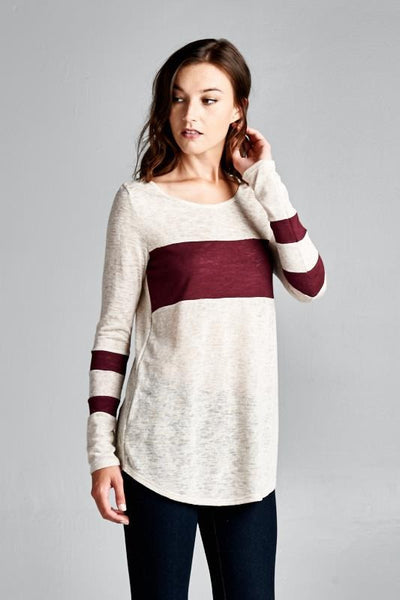 Anytime Tunic Top Wine - Willow Blaire - 5