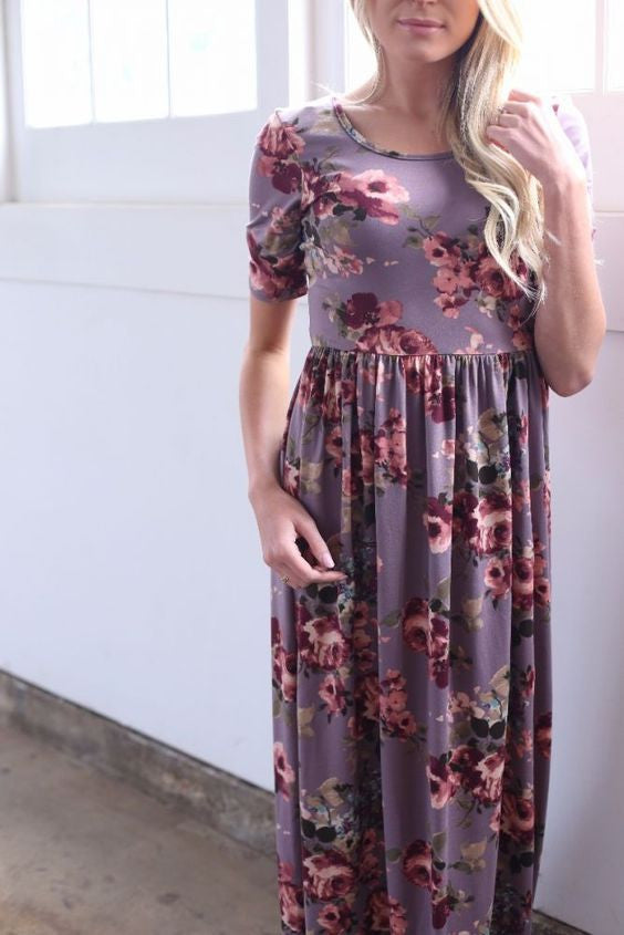 Molly Lavender Maxi Dress