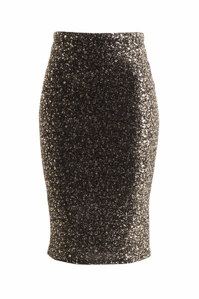 Lurex Gold Pencil Skirt
