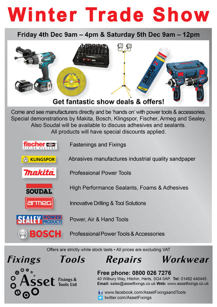 Winter 2015 Trade Show – Asset Fixings & Tools