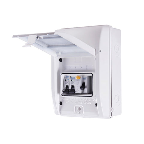 BG Garage Consumer unit Kit  IP65 - 40A 30mA RCD c/w 6A and 32A MCB