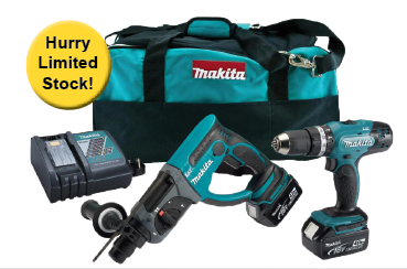 Makita 18volt Twin Pack DLX2025M