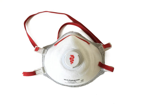 Disposable dust mask ffp3 valved x 10