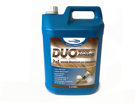 Waterproof d3 wood adhesive x 5ltr