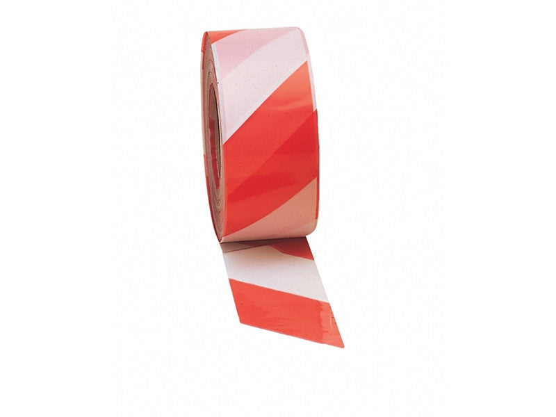 Red/white non adhesive barrier tape