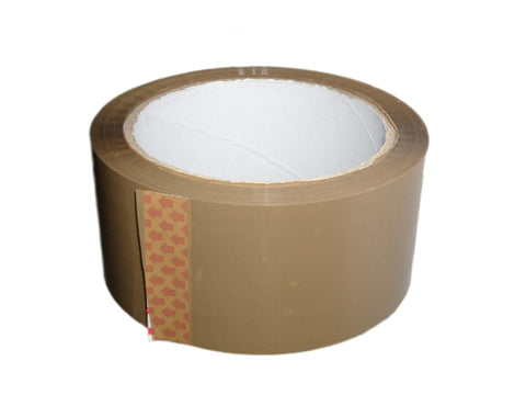 50mm x 66m brown packing tape