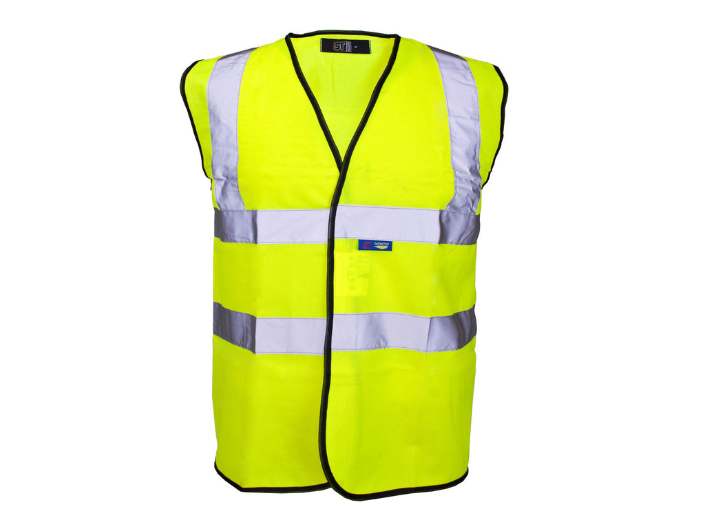 Yellow high visibility waistcoat size xl