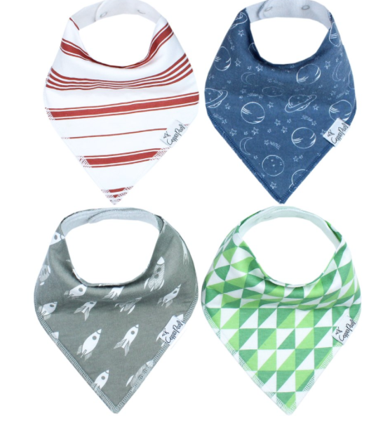 Baby Bandana Bibs- Apollo - Baby Sweet Pea's Boutique