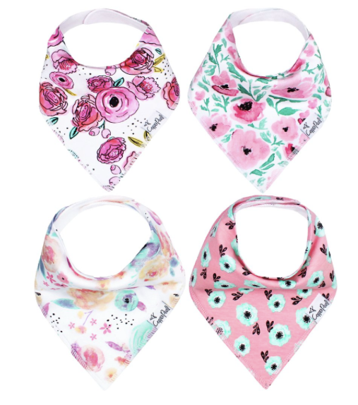Baby Bandana Bibs- Bloom - Baby Sweet Pea's Boutique