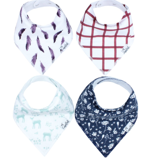 Baby Bandana Bibs- Fawn - Baby Sweet Pea's Boutique
